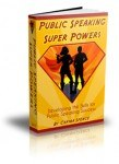 Public Speaking Super Powers Mock Book Cover