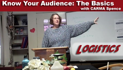 Know Your Audience - logistics