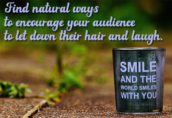 pull quote about encouraging laughter