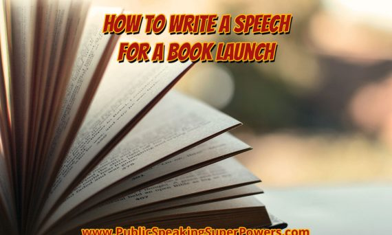 How to write a speech for a book launch